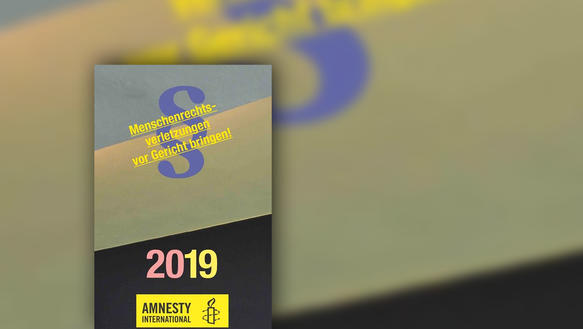 "Cover ""Amnesty International Taschenkalender 2019"""