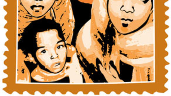 Displaced people from Tawargha - LWM 2012 stamp artwork